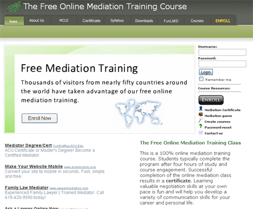 mediation course